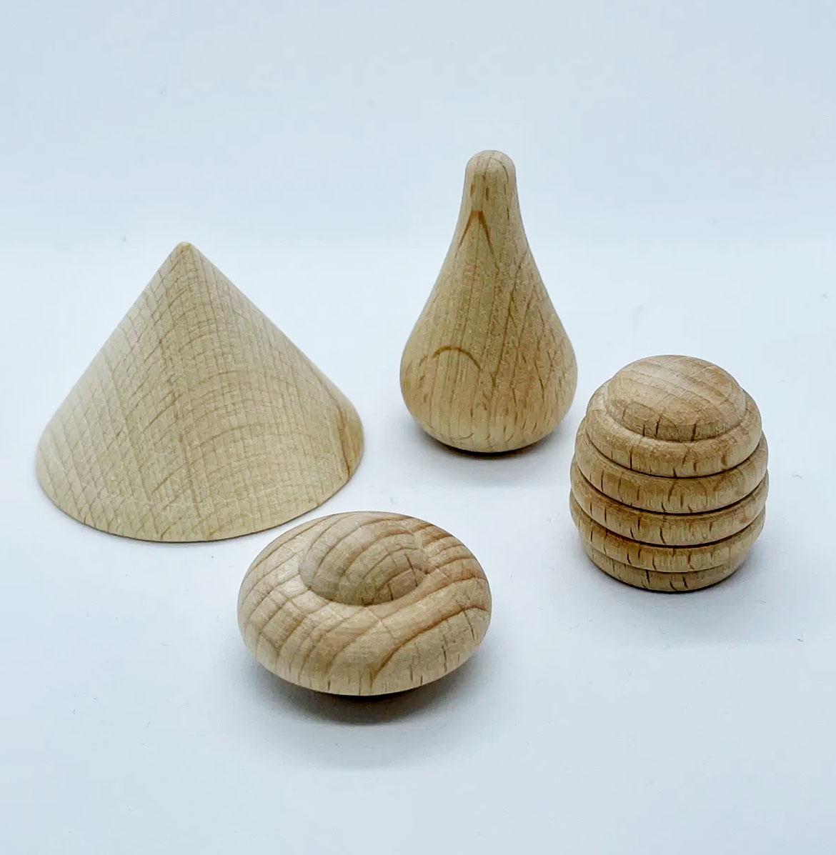 wooden mushrooms - play